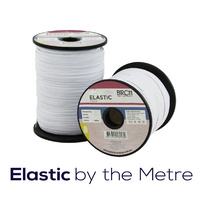 Elastic 2mm Stretch Shot Cord White (by the metre)