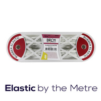 Elastic Rubber 10mm White (by the metre)
